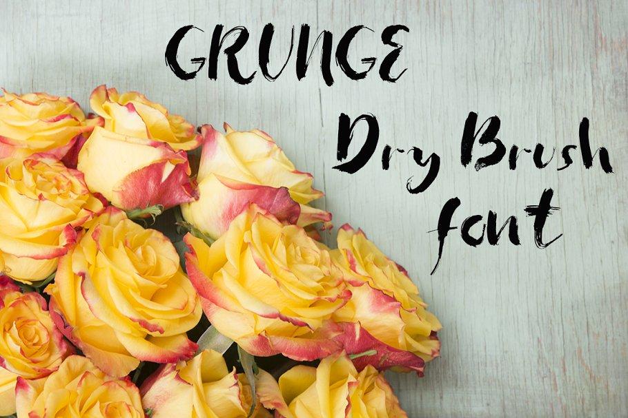 Best Grunge dry brush font Vector