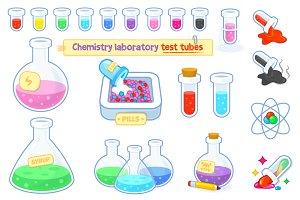 Chemistry Laboratory Test Tubes