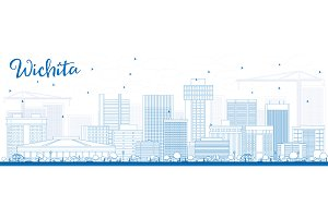 Outline Wichita Skyline