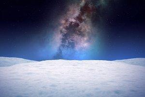 Winter 3D landscape