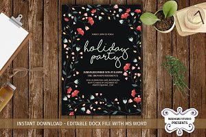 Holiday Party Invitations Template