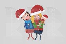 3d illustration. Christmas Parents.