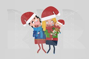 3d illustration. Christmas Parents.