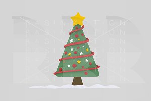 3d illustration. Christmas Tree