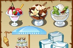 Ice cream decorated