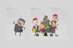 3d illustration. Christmas Boss.