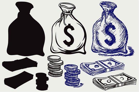 Moneybag SVG DXF