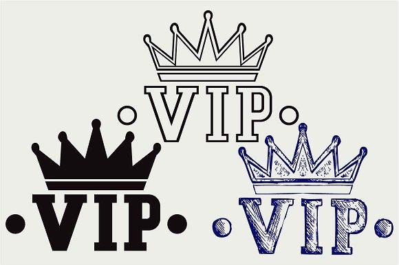 Crown VIP SVG DXF