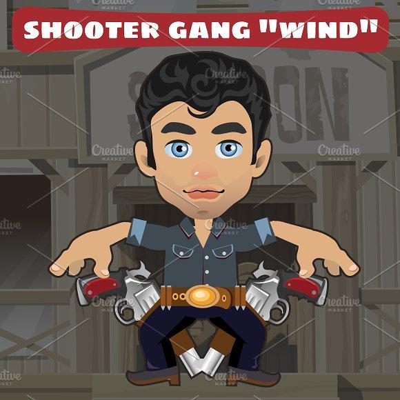 Cool man with gun, Wild West style