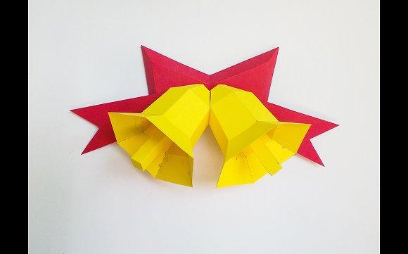 Diy christmas bells 3d papercraft templates creative market diy christmas bells 3d papercraft templates pronofoot35fo Gallery