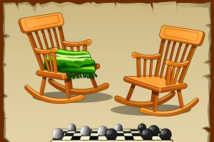 Rocking chairs and checkers