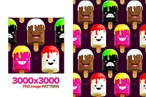 Freaky Ice-Creams Pattern