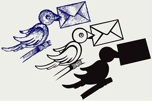 Postal pigeon SVG