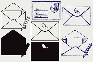 Open envelope SVG