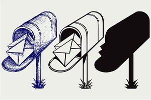 Open Mailbox SVG