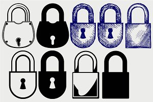 Locks security SVG