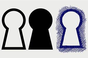 Keyhole symbol SVG
