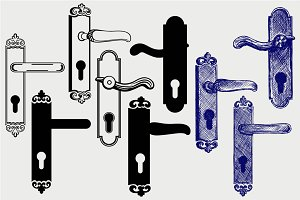 Door handle SVG