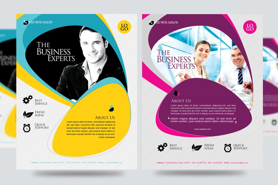 corporate business promotion flyer flyer templates creative market. Black Bedroom Furniture Sets. Home Design Ideas