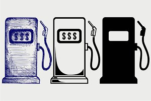 Gas station pump SVG