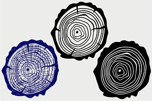 Tree stump SVG