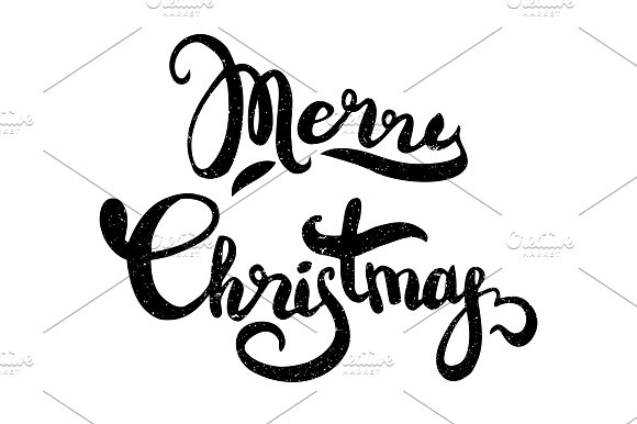Merry Christmas hand lettering in Illustrations