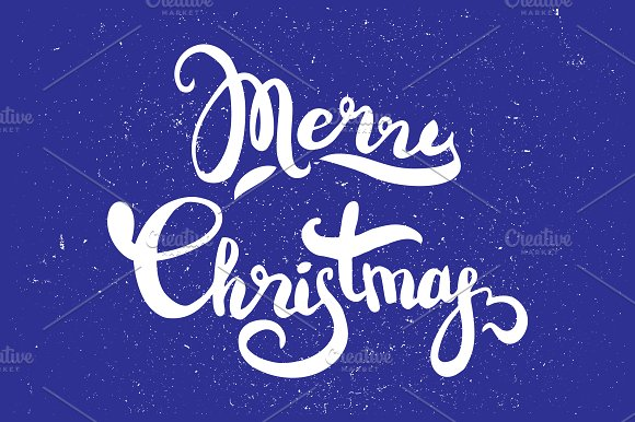 Merry Christmas hand lettering in Illustrations - product preview 1