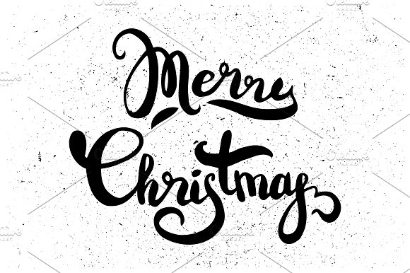 Merry Christmas hand lettering in Illustrations - product preview 2