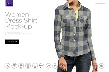 Women Dress Shirt Mock-up