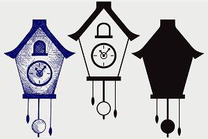 Cuckoo clock SVG
