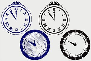 Set symbol clock SVG
