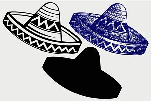 Mexican hat SVG