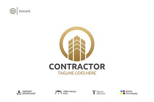 Contractor - Real Estate Logo