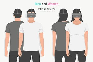 Glasses of virtual reality