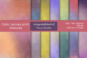 Color canvas textures