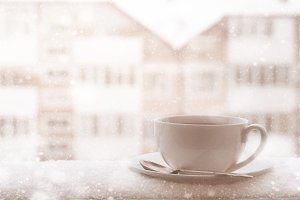 Cup of tea in winter