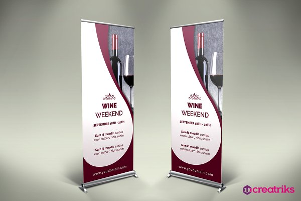 Wine Roll Up Banner