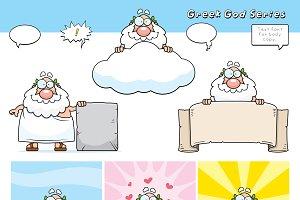 Cartoon Greek God Series