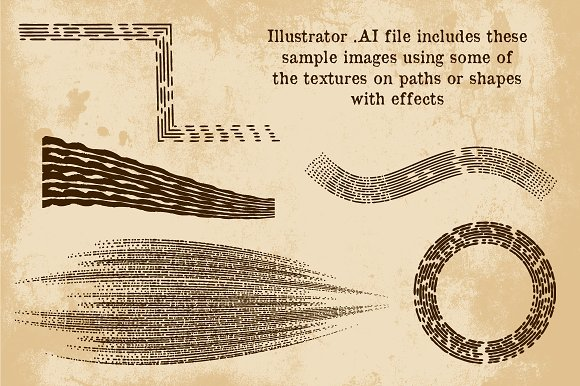 Vintage Print Texture Brushes PS/AI in Photoshop Brushes - product preview 1