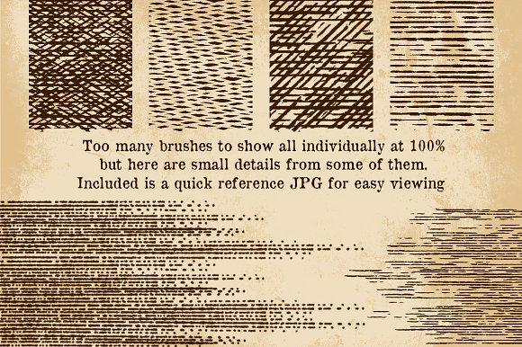 Vintage Print Texture Brushes PS/AI in Photoshop Brushes - product preview 2