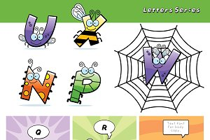 Cartoon Bug Letters