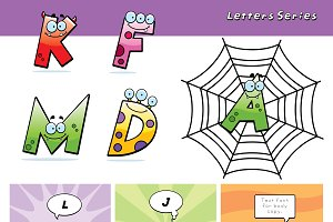 Cartoon Monster Letters