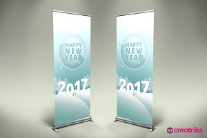 Happy New Year Roll Up Banner