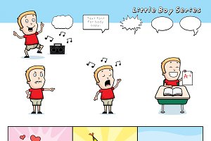 Cartoon Little Boy Series