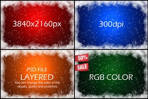 Christmas Photo Overlay 4Backgrounds