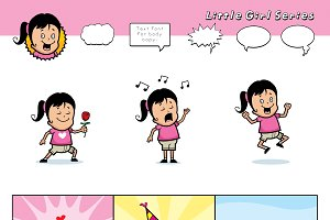 Cartoon Little Girl Series