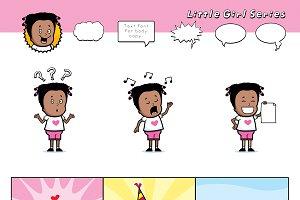 Cartoon Little Girl Series