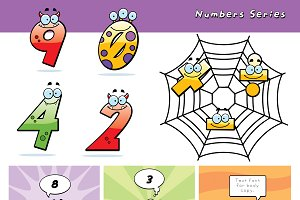 Cartoon Monster Numbers