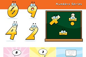 Cartoon Numbers Series