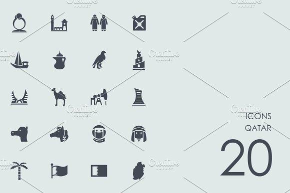 Qatar icons